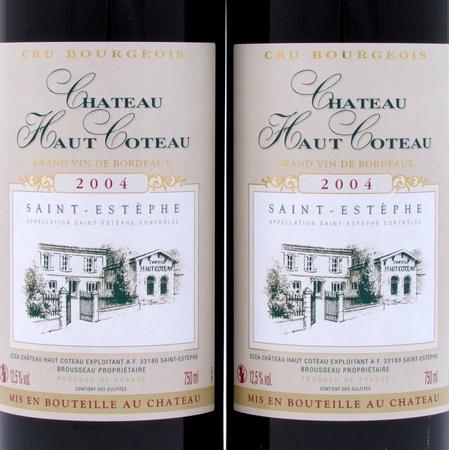 Saint-Estephe 2004 Chateau Haut Coteau etiket