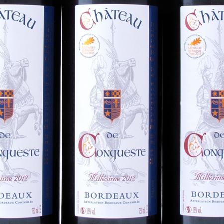 Bordeaux 2012 rood Chateau de Conqueste etiket