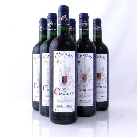 Bordeaux 2012 rood Chateau de Conqueste 6 flessen Grape33