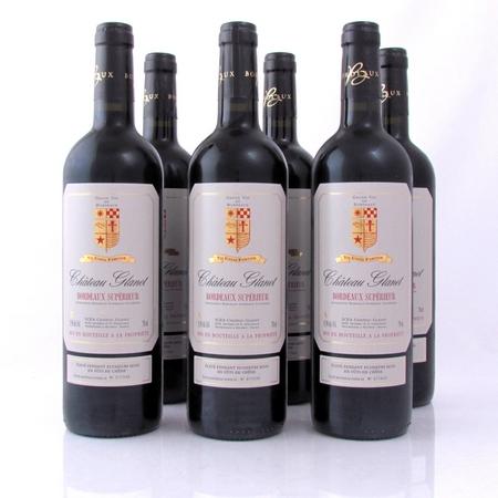 Bordeaux Superieur 2011 Glanet eiken 6 fl Grape33