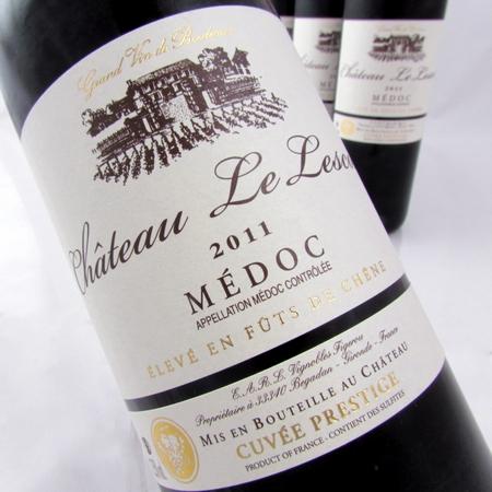 Medoc 2011 van Chateau Le Lescot cuvée prestige 6 flessen