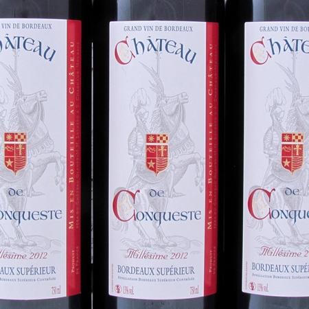 Bordeaux Superieur Chateau de Conqueste 2012 etiket