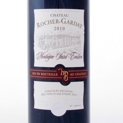 Montagne Saint-Emilion 2010 Rocher-Gardat etiket Grape33