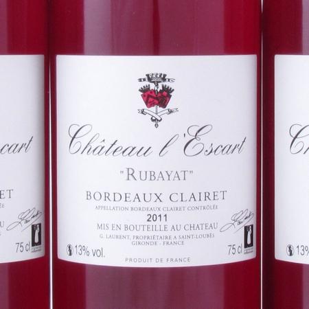 Clairet de Bordeaux L'Escart Rubayat 2011 etiket