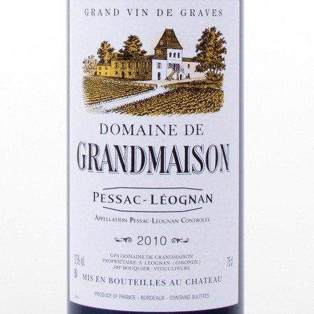 Pessac-Léognan 2010 Domaine de Grandmaison